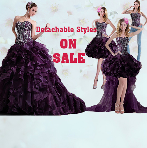 Detachable Dresses;Two Pieces,Three Pieces Detachable Dress with Removable Skirt